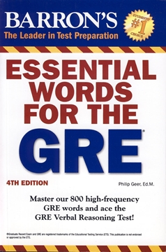 تصویر Essential Words for The GRE 4th