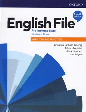 تصویر  English File Pre-Intermediate fourth edition+Workbook+CD