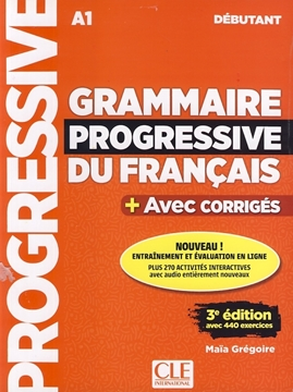 تصویر Grammaire Progressive du Francais debutant-A1+CD
