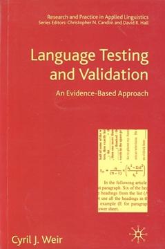 تصویر Language Testing and Validation an Evidence-Based Approach
