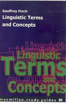 تصویر Linguistic Terms and Concepts