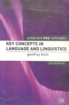 تصویر Key Concepts in Language and Linguistics